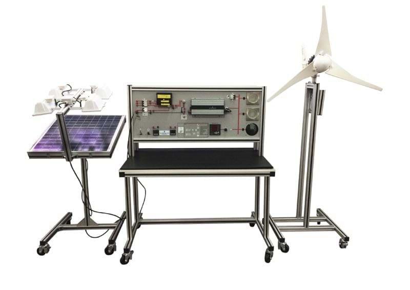Sistema de Estudos em Geração de Energia Elétrica Fotovoltaica e Eólica Integrada