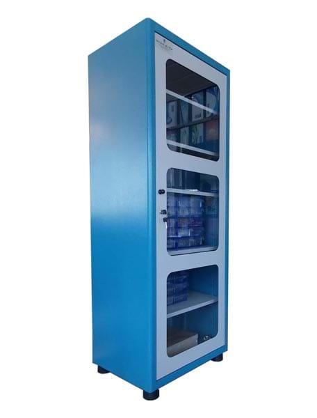 Armário De Aço Com Gaveteiro Para Componentes Eletrônicos