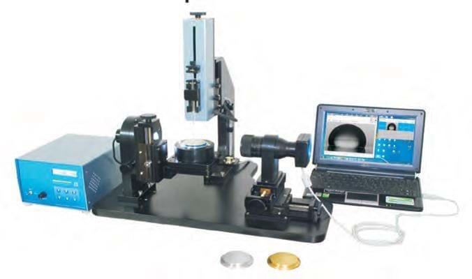 Medidor de Ângulo por Contato com suporte rotativo e distribuídor automatizado